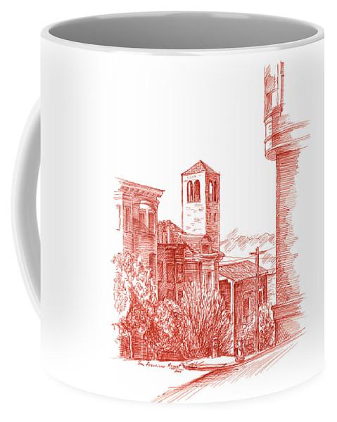 California Coffee Mug featuring the drawing Chestnut Street In San Francisco by Irina Sztukowski