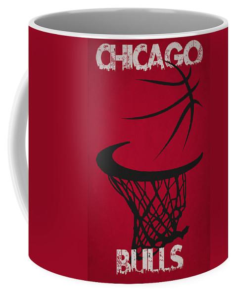 Bulls Coffee Mug featuring the photograph Chicago Bulls Hoop by Joe Hamilton