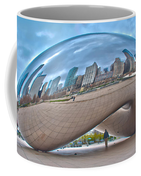 View Coffee Mug featuring the photograph Chicago Cloud Gate by Alex Grichenko