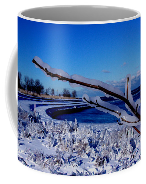 Chicago Coffee Mug featuring the photograph Chicago - Cold by Greg Thiemeyer