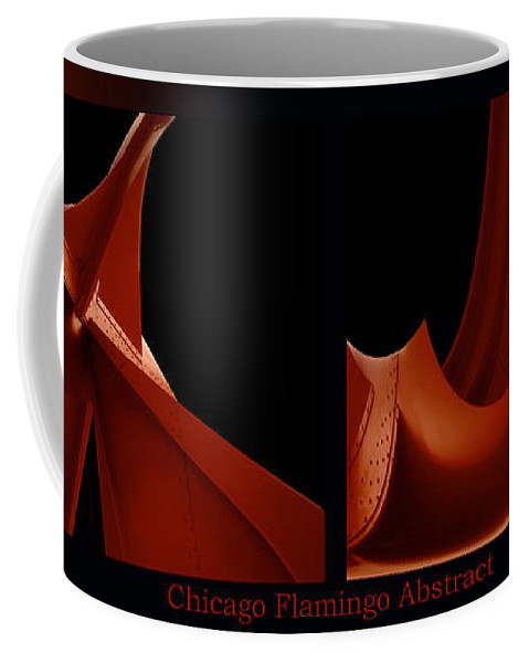 Chicago Coffee Mug featuring the photograph Chicago Flamingo Abstract 2 Panel 02 by Thomas Woolworth