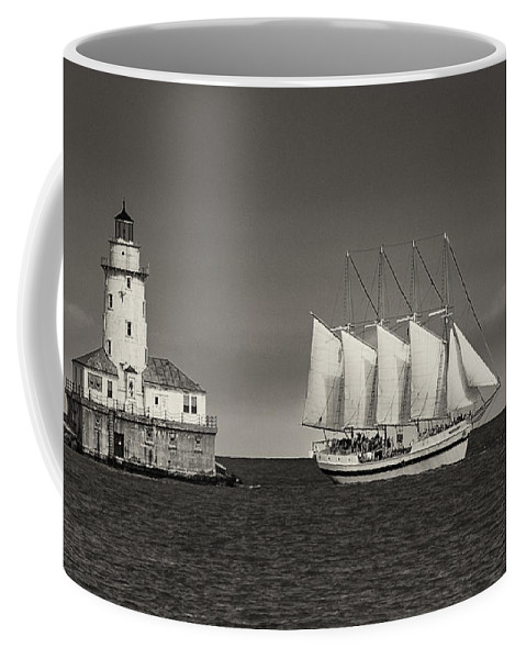 Chicago Coffee Mug featuring the photograph Chicago Lighthouse by John Ullrick