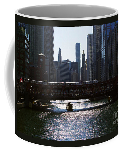Cityscape Coffee Mug featuring the photograph Chicago Morning Commute by Frank J Casella