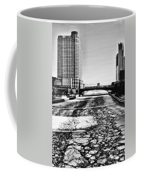Chicago Coffee Mug featuring the photograph Chicago On Ice By Diana Sainz by Diana Raquel Sainz