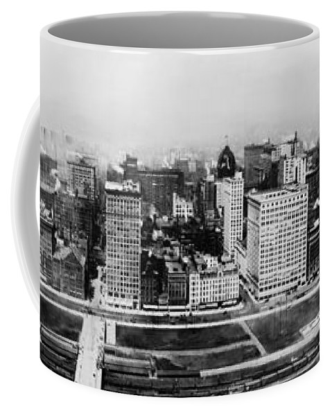 1915 Coffee Mug featuring the photograph Chicago Panorama 1915 by Mountain Dreams