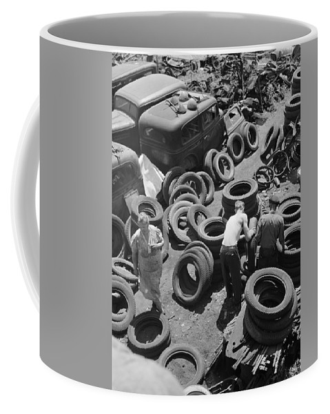 1942 Coffee Mug featuring the painting Chicago Scrap Yard, 1942 by Granger