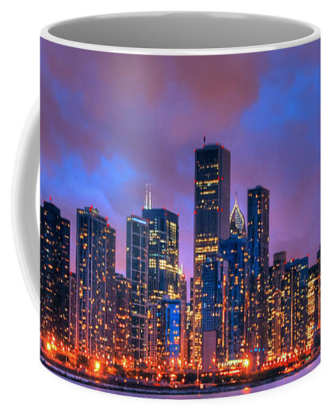Chicago Skyline From Navy Pier Coffee Mug featuring the photograph Chicago Skyline From Navy Pier View 2 by Ken Smith
