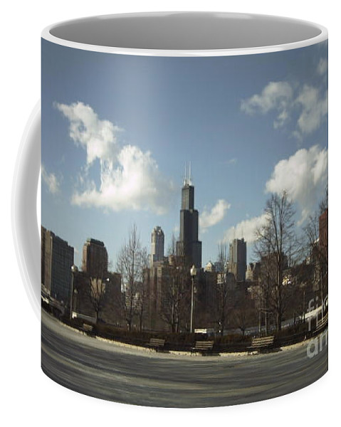 Chicago Skyline Coffee Mug featuring the photograph Chicago Skyline Postcard by Minding My Visions by Adri and Ray