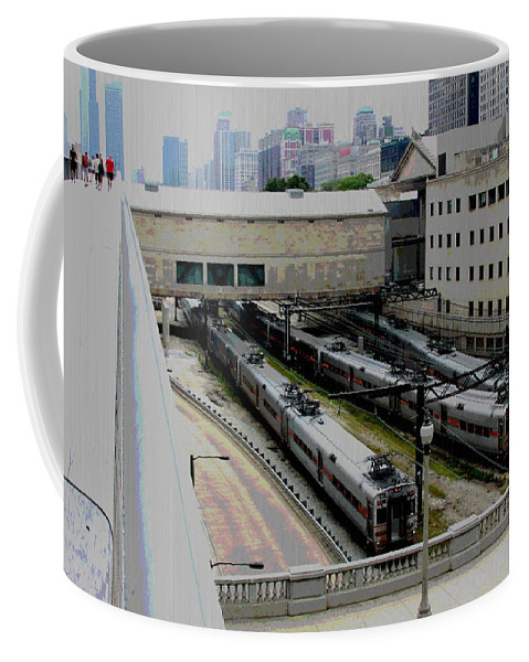Chicago Coffee Mug featuring the photograph Chicago - South Shore Train Yard by Greg Thiemeyer