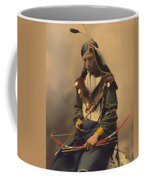 Chief Coffee Mug featuring the photograph Chief Bone Necklace Of The Lakota 1899 by Mountain Dreams