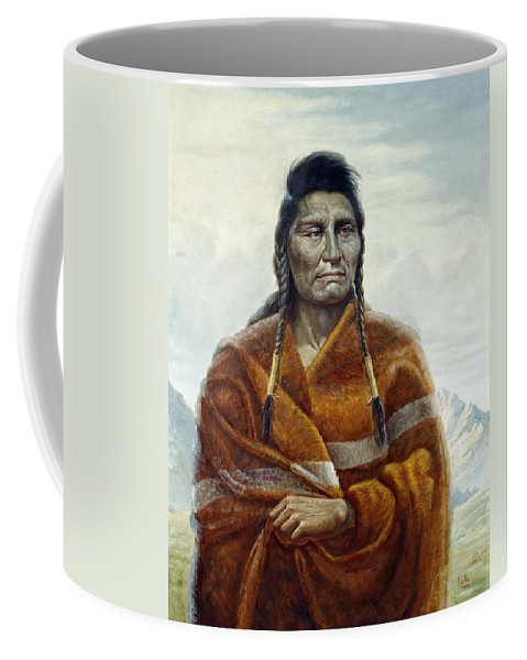 Gregory Perillo Coffee Mug featuring the painting Chief Joseph by Gregory Perillo