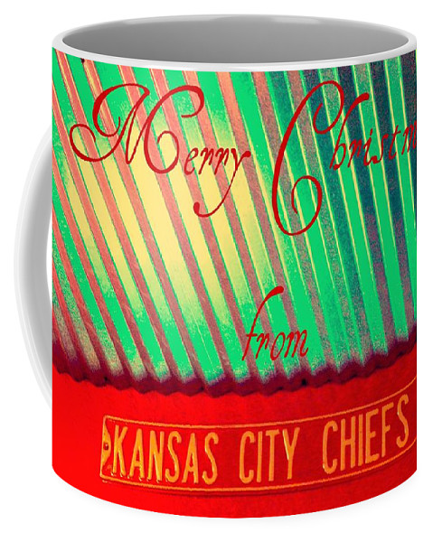 Christmas Coffee Mug featuring the photograph Chiefs Christmas by Chris Berry