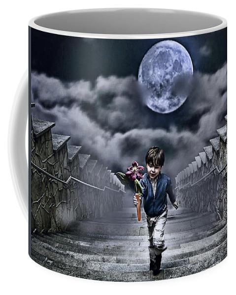 Boy Coffee Mug featuring the photograph Child Of The Moon by Joachim G Pinkawa