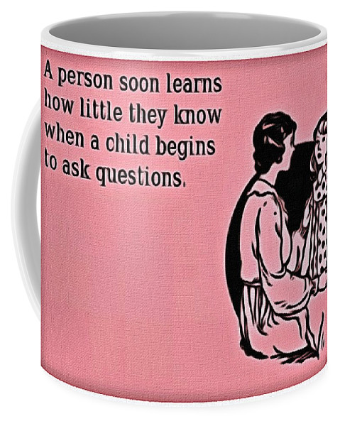 Child Coffee Mug featuring the painting Child Questions by Florian Rodarte