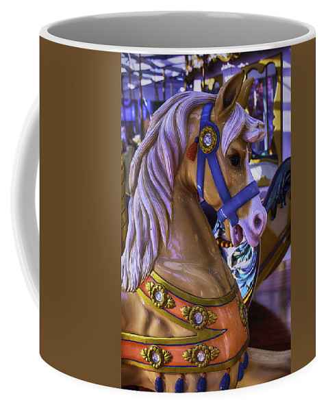 Magical Carousels Coffee Mug featuring the photograph Childhood Carrousel Ride by Garry Gay