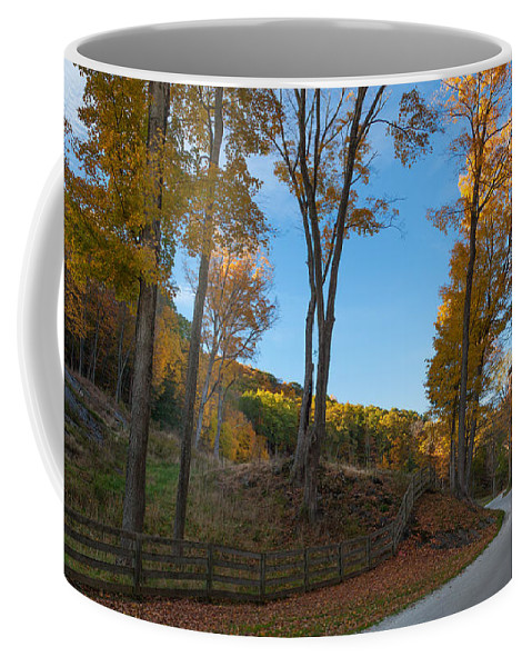 Dirt Road Coffee Mug featuring the photograph Chillin' On A Dirt Road by Bill Wakeley