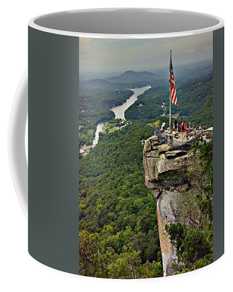 Colors Coffee Mug featuring the photograph Chimney Rock Overlook by Alex Grichenko