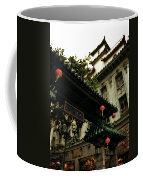 Chinatown Coffee Mug featuring the photograph Chinatown Entrance by Michelle Calkins