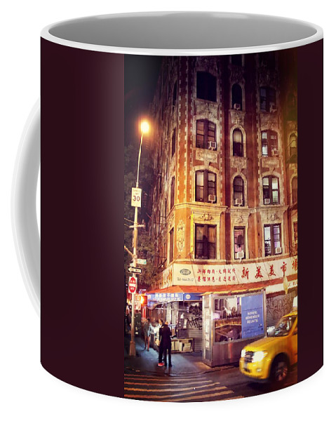 Chinatown In New York City At Night Coffee Mug For Sale By Dan Sproul