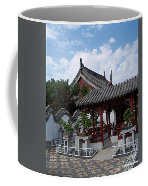 Garden Landscape Coffee Mug featuring the photograph Chinese Bonsai Garden by Lingfai Leung