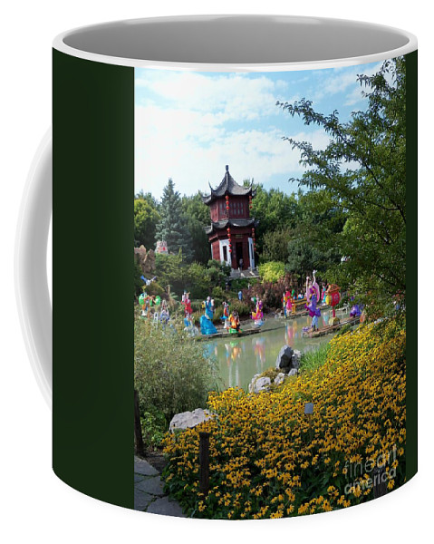 Garden Landscape Coffee Mug featuring the photograph Chinese Garden With Gazebo by Lingfai Leung