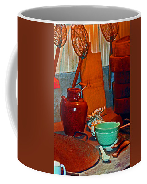 Locke Historic Chinese Society Coffee Mug featuring the digital art Chinese Kitchen Cookware by Joseph Coulombe