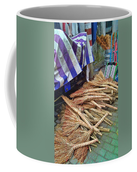 China Coffee Mug featuring the photograph Chinese Market 3 by Cathy Anderson