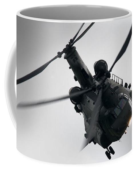 Chinook Coffee Mug featuring the photograph Chinook by Angel Ciesniarska