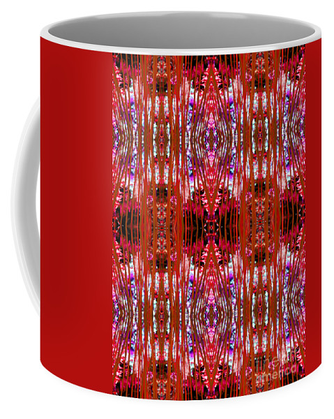 Abstract Coffee Mug featuring the photograph Chive Abstract Red by Barbara Moignard