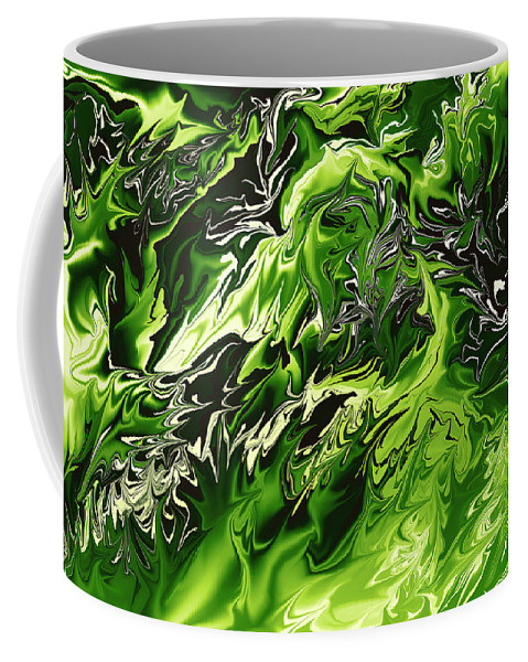 Colors Coffee Mug featuring the digital art Chlorophylle by Lyriel Lyra