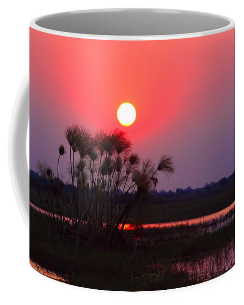 Chobe River Coffee Mug featuring the photograph Chobe River Sunset by Amanda Stadther