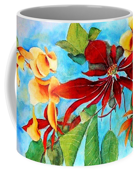 Watercolor Coffee Mug featuring the painting Christmas All Year Long by Debbie Lewis