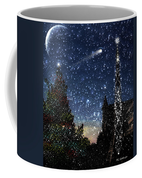 Christmas Coffee Mug featuring the painting Christmas Baroque by RC deWinter