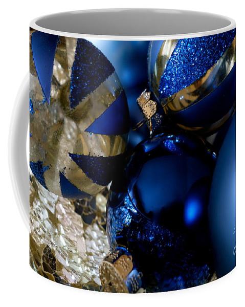 Christmas Coffee Mug featuring the photograph Christmas Blue by Jacqueline Athmann