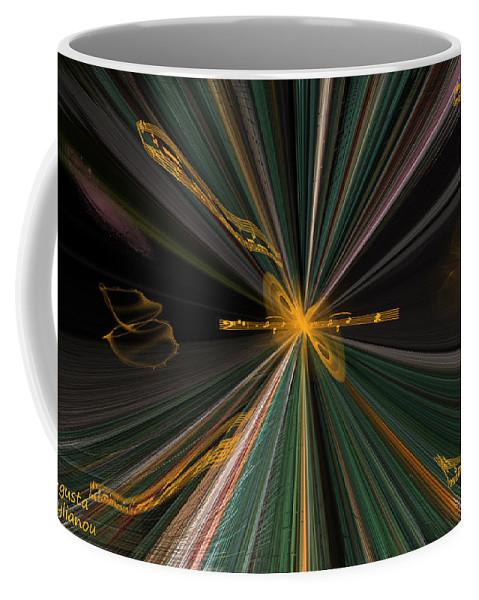 Augusta Stylianou Coffee Mug featuring the digital art Christmas Carols by Augusta Stylianou