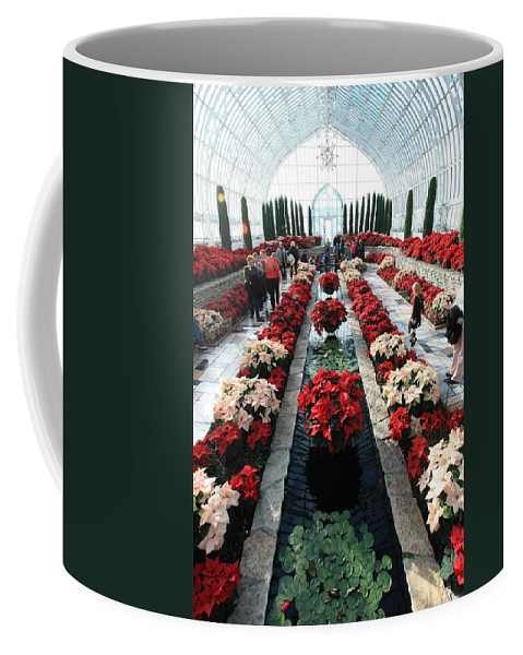 Como Conservatory Coffee Mug featuring the photograph Christmas Color by Amanda Stadther