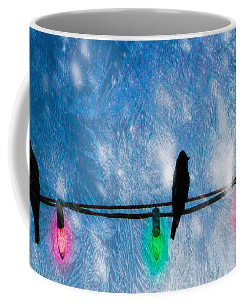 Christmas Lights Coffee Mug featuring the photograph Christmas Lights by Bob Orsillo