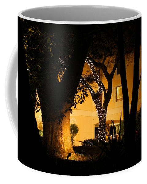 Night Coffee Mug featuring the photograph Christmas Lights by Kathryn Meyer