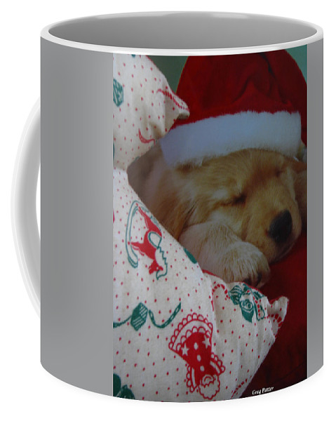 Patzer Coffee Mug featuring the photograph Christmas Pup by Greg Patzer