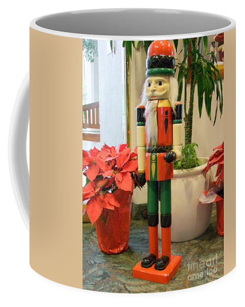 German Coffee Mug featuring the photograph Christmas Sentinel No 2 by Mary Deal