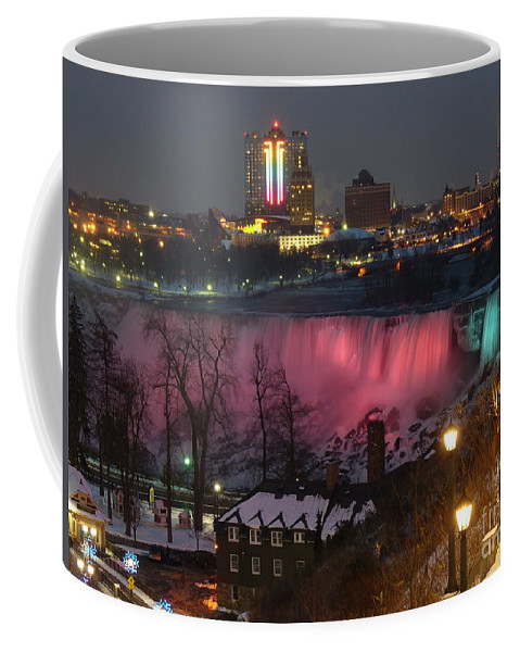 Niagara Falls Coffee Mug featuring the photograph Christmas Spirit At Niagara Falls by Lingfai Leung