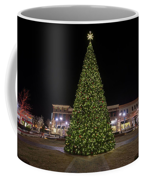 Hampton City Center Coffee Mug featuring the photograph Christmas Tree Hampton City Center by Greg Hager