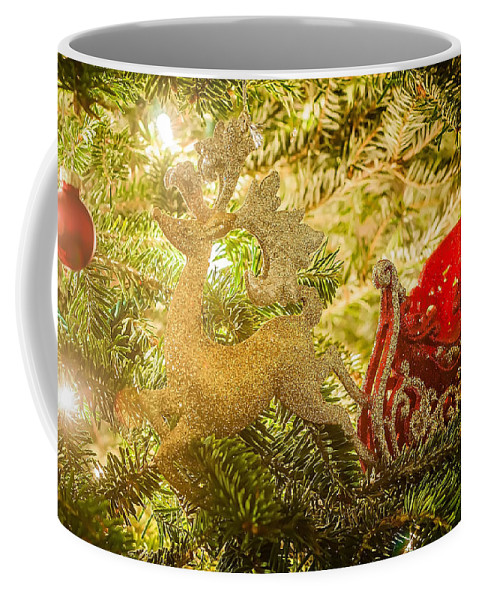 Artificial Coffee Mug featuring the photograph Christmas Tree Ornaments by Alex Grichenko