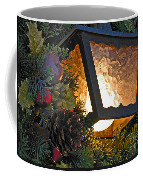 Christmas Coffee Mug featuring the photograph Christmas Welcome by Ann Horn