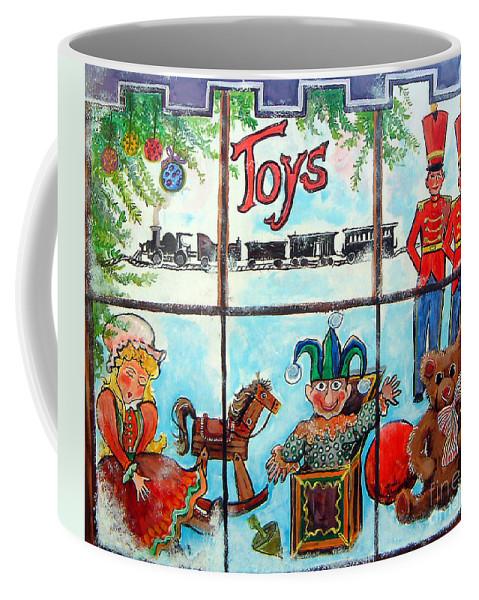 Christmas Coffee Mug featuring the painting Christmas Window by Linda Shackelford
