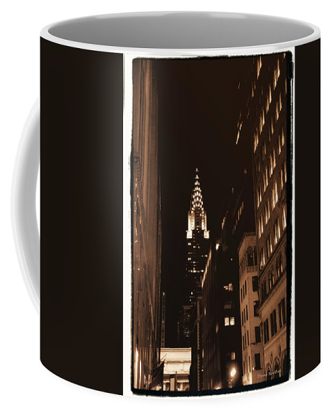 New York Coffee Mug featuring the photograph Chrysler Building by Donna Blackhall