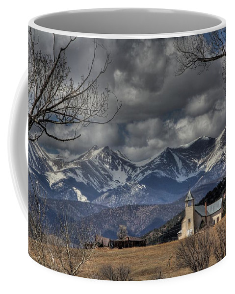 Castle Coffee Mug featuring the photograph Church In The Hills by Chance Chenoweth