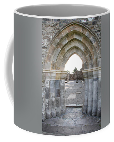 Church Coffee Mug featuring the photograph Church Portal by Christiane Schulze Art And Photography