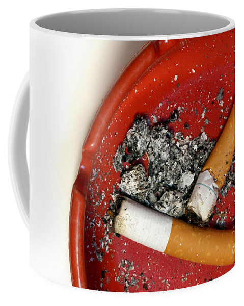 Addicted Coffee Mug featuring the photograph Cigarette Butts by Amy Cicconi