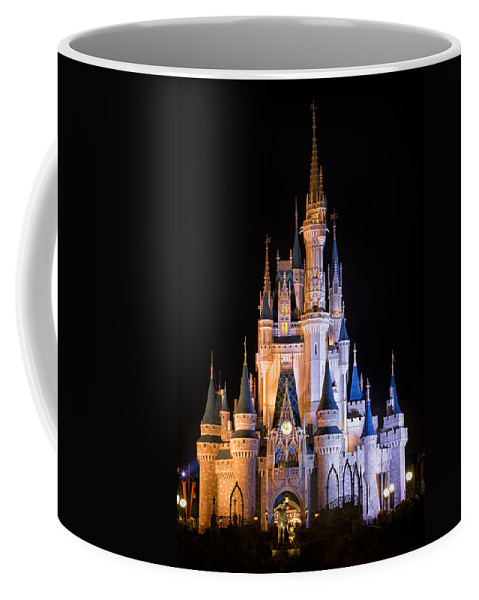 3scape Coffee Mug featuring the photograph Cinderella's Castle In Magic Kingdom by Adam Romanowicz